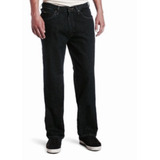 Lee Relaxed Straight Leg Cal�a Jeans Tam 50 Masc Black