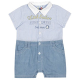 Macac�o Beb� Infantil Menino Azul Little Sailor   Tip Top