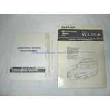 Manual Instru�oes Filmadora Vl l170b Sharp Usado No Estad