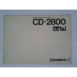 Manual Original Tape Deck Gradiente Cd 2800