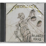 Metallica   Cd    and Justice For All   Lacrado