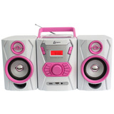 Micro System Lenoxx Fm cd Player  Mp3 Branco rosa  Mc265