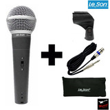 Microfone Leson Ls58 Similar Sm58 Vocal Profissional   Cabo