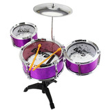 Mini Bateria Musical Infantil Jazz Drum   Rosa