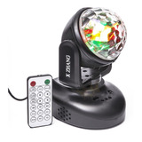Mini Moving Head Rgb Bola Maluca Sensor De Som Luz Festa 6w
