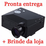 Mini Projetor Portatil Led 1920x1080 100pol Usb sd hdmi H80
