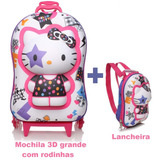 Mochila Hello Kitty   Lancheira Kit 3d