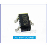 Mosfet Ao3407 Smd 30v 3 5a 1 4w Sot23 1 Pct C  3 Pe�as