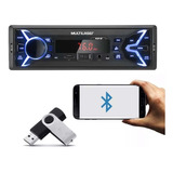 Mp3 Player 1din Usb Radio Multilaser Fm Bluetooth Carro
