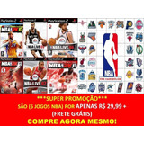 Nba 2014   2015 Para Playstation 2  kit 6 Jogos Ps2 Nba 2k15