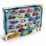 Novo Quebra Cabe�a Puzzle Grow 100 Pe�as Hot Cars