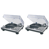 Par Vitrola Toca Discos Audio Technica At lp120 Usb Dj