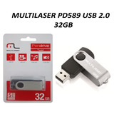 Pen Drive 32gb Multilaser Twist Pd589 Usb 2 0
