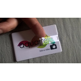 Pen Drive Cart�o Liso Pen Card 8gb Para Personalizar