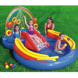Piscina Infl�vel Infantil Playground Arco �ris 246 Lts Intex