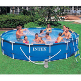 Piscina Intex 12 422 Litros Estrutural Arma��o Kit Completo