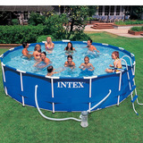 Piscina Intex 14 614 Litros Estrutural Arma��o Kit Completo