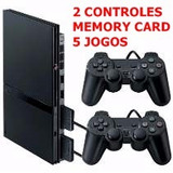 Playstation 2 Slim Completo  2 Controles 5 Jogos memory Card