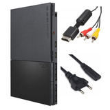 Playstation 2 Slim Ps2 Play2 Play Console   Cabos Energia Av