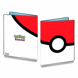 Pokemon Pasta Album Pokeball Ultra Pro 9 Bolsos C  10 Folhas