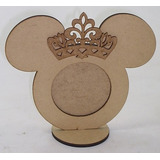 Porta Retrato Mickey Minnie La�o Ou Princesa Mdf