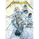 Poster Hd Gigante Metallica And Justice For All Decorativo