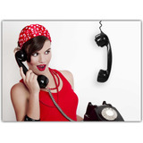 Quadro Decorativo Vintage Retro Telefone Modelo Antigo Decor