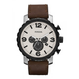 Rel�gio Fossil Jr1390 Nate Leather Original