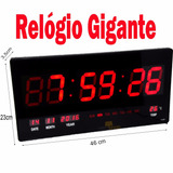 Relogio Parede Led Digital Grande Painel Data Temperatura