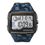 Relógio Timex Expedition Shock Tw4b07100ww n Camuflado Azul
