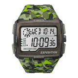 Relógio Timex Expedition Shock Tw4b07200ww n Camuflado Verde