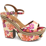 Sand�lia Zariff Shoes Plataforma Floral | Zariff
