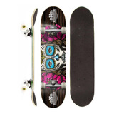 Skate Montado Completo Dng Profissional Lady Skull Street