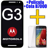 Tela Touch Display Lcd Frontal Moto G3   Pelicula   Cola