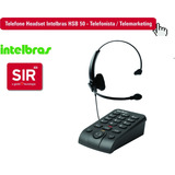 Telefone Headset Intelbras Hsb50  Telefonista  Telemarketing