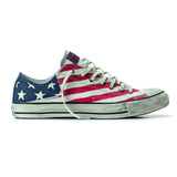 T�nis Converse All Star   American Flag   Couro Leg�timo