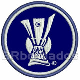 Tpc066 Trof�u Uefa Champions League 8 Cm Tag Patch Bordado
