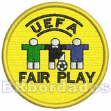 Tpc105 Fair Play Uefa Euro 2004 7 5 Cm Futebol Patch Bordado