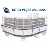 Vitrine Balc�o Caixa Seco Expositor Kit 04 Pe�as Avulsas
