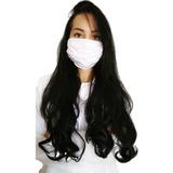 1 Máscaras Lavável De Tecido Elástico Branca