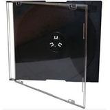 10 Capa Caixa Acrilica Cd Box Super Slim Fina Preto Rena