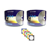 100 Cd r Virgem Multilaser   100 Envelope De Papel C  Visor