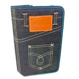 2 Case Porta Cd Dvd Blu ray Jeans 80 Mídias Jiadai® Proteção