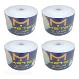 200 Midia Cd r Virgem Maketech Print Branco Ink Jet Impressão Até O Miolo 52x 700mb 80min Atacado