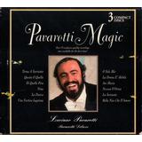 3 Cds Box Luciano Pavarotti Pavarotti Magic  1997 Usado