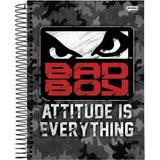 4 Caderno Universitário Cd 1x1 96f Bad Boy 19 Escolar