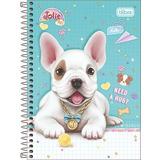 4 Cadernos 1 Matéria Cd Jolie Pet Modelo  2020