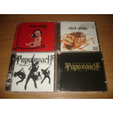 4x Cd Papa Roach Infest Lovehatetragedy Paramore  importados