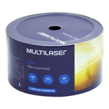 50 Midia Cd r Virgem Multilaser C logo 52x 700mb 80min Cdr