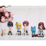 6 Bonecos Fairy Tail Anime Figure Estatua Promoção Coletion